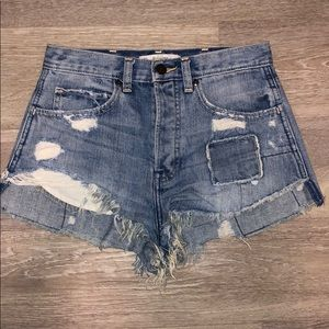 Abercrombie & Fitch Distressed Jean Shorts